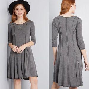 "[Modcloth] Grey Henley Dress ""At It Again …"